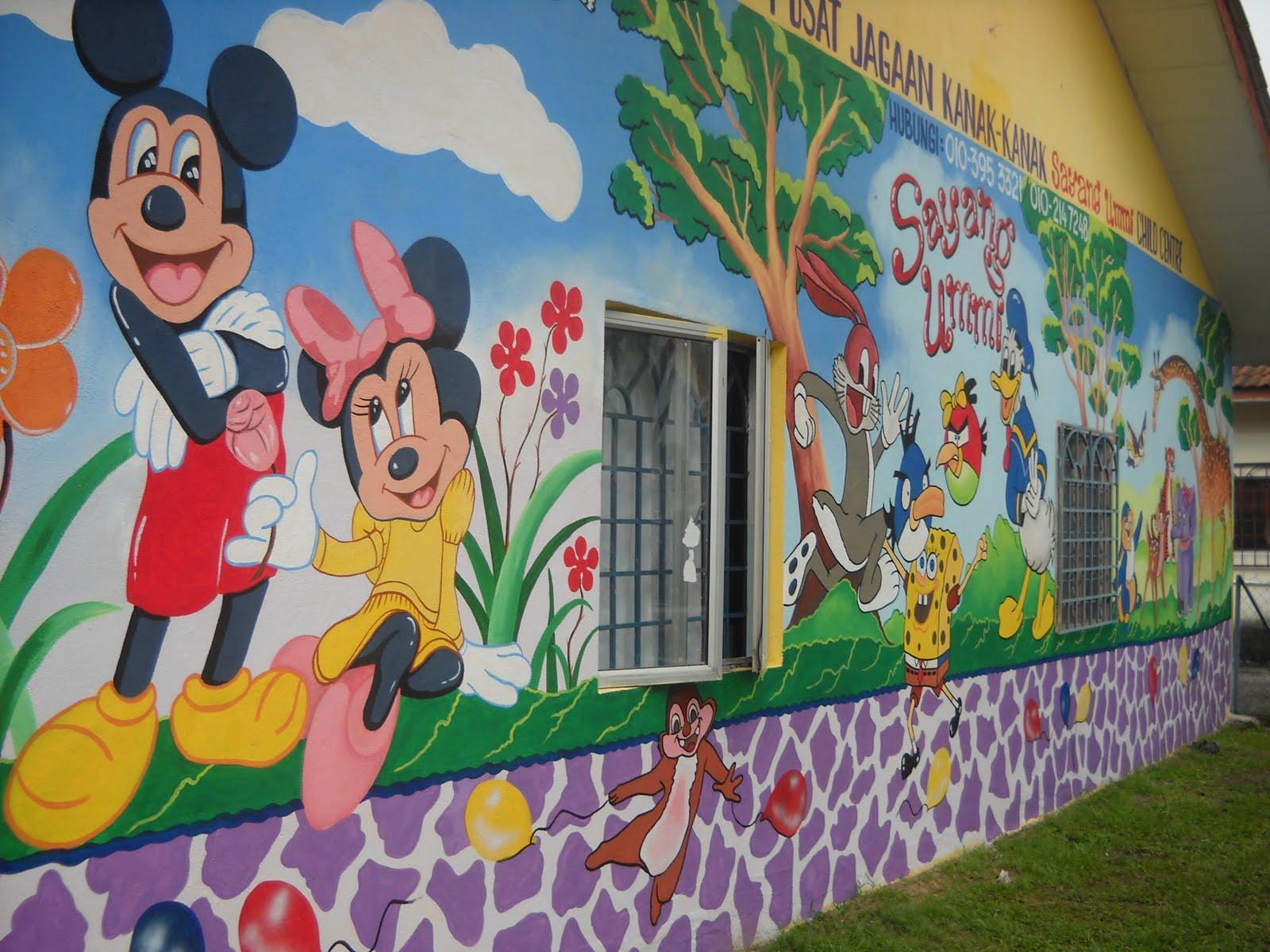 pelukis mural shah alam tadika sayang ummi