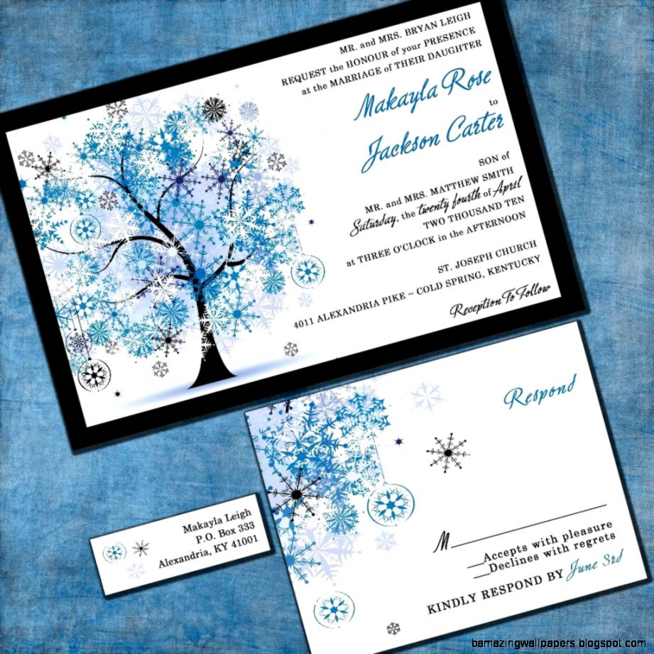Wedding Invitation Winter Snowflake Tree by InvitingMoments