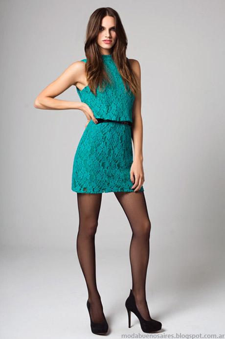 Vestidos de fiesta cortos colección otoño invierno 2014 Moda Mab.