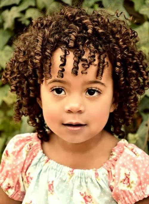Cute hairstyles for short curly hair for kids