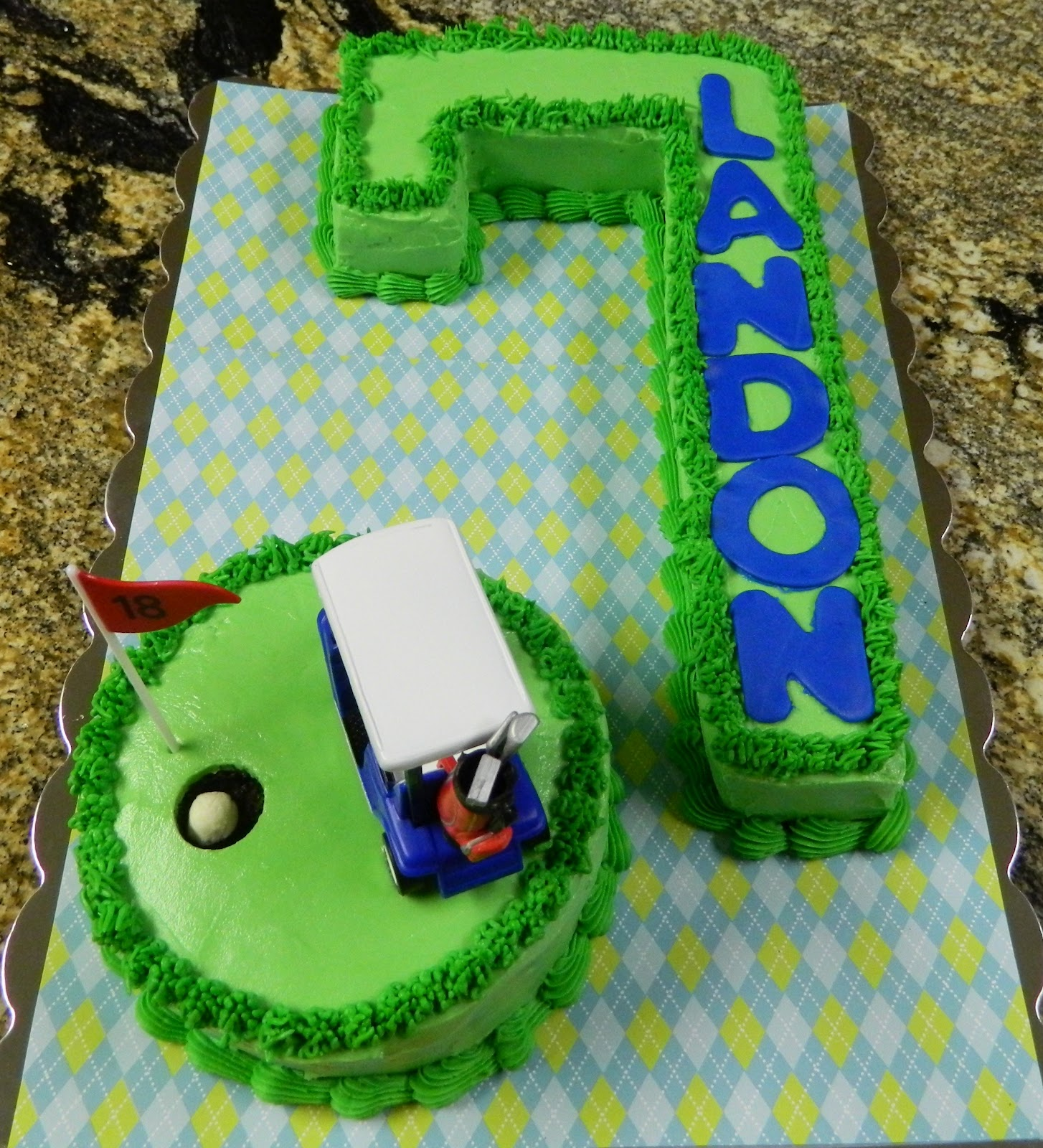 Sugar Spice And Spilled Milk A Golf Cake For The Seventh