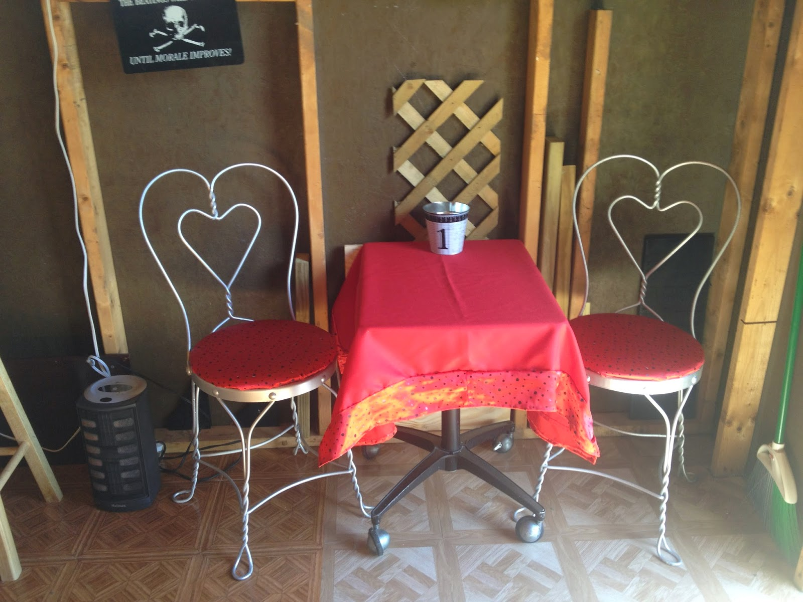 the barshed: shed into bar- ice cream chair makeover