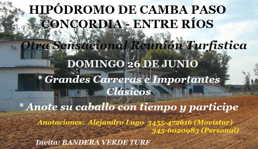 CONCORDIA 26 DE JUNIO REUNIÓN