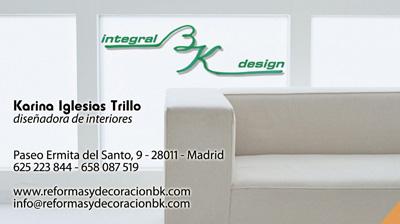 ampliar tarjeta Integral BK Design - reformas y decoración