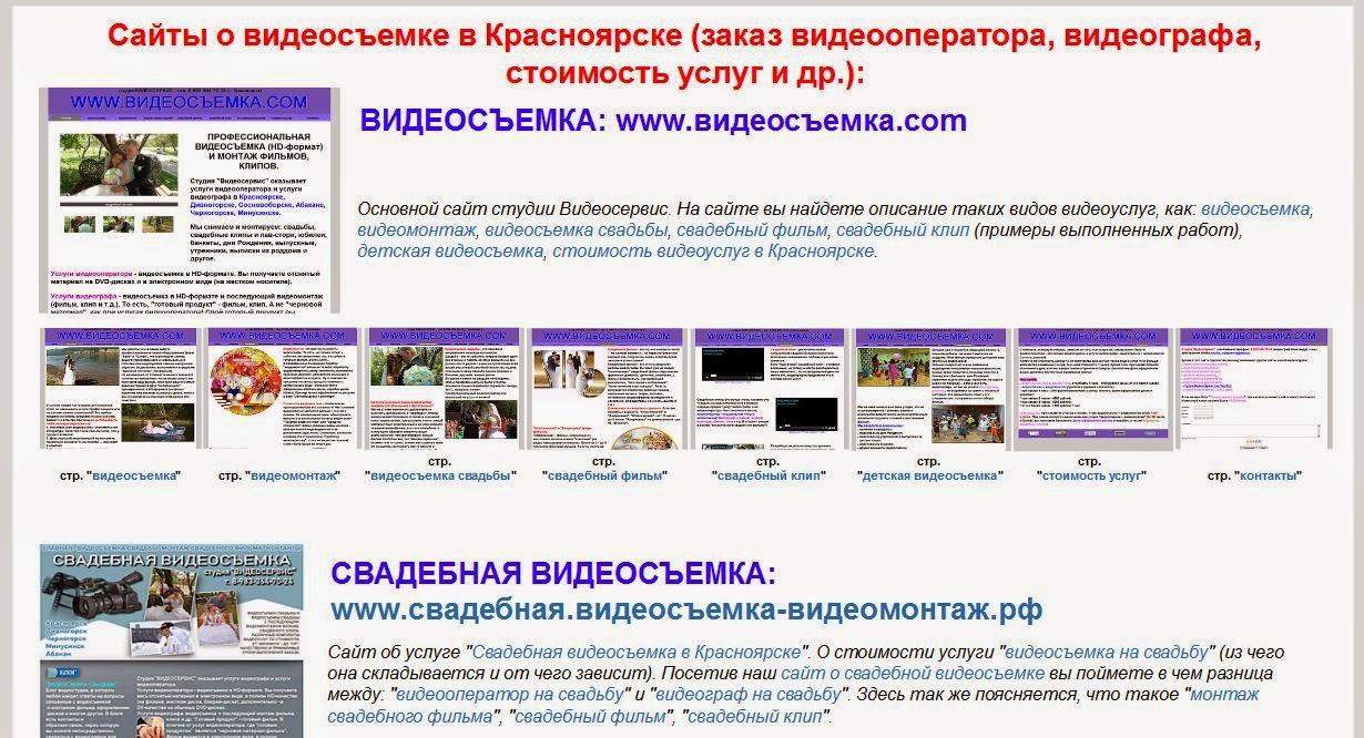 список сайтов о видеосъемке