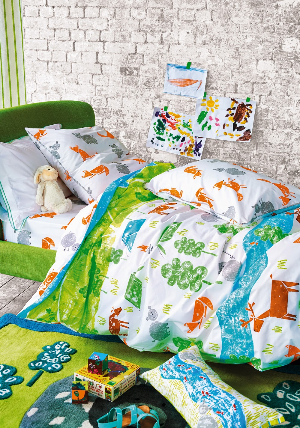 The Great Outdoors de Designers Guild. Funda nordica y juego de sabanas