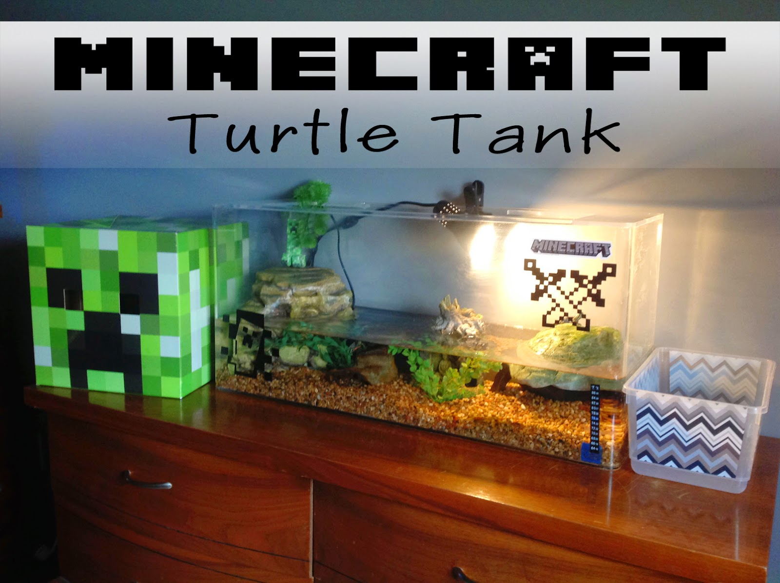 Jacobs family blog minecraft turtle tank for Turtle fish tank