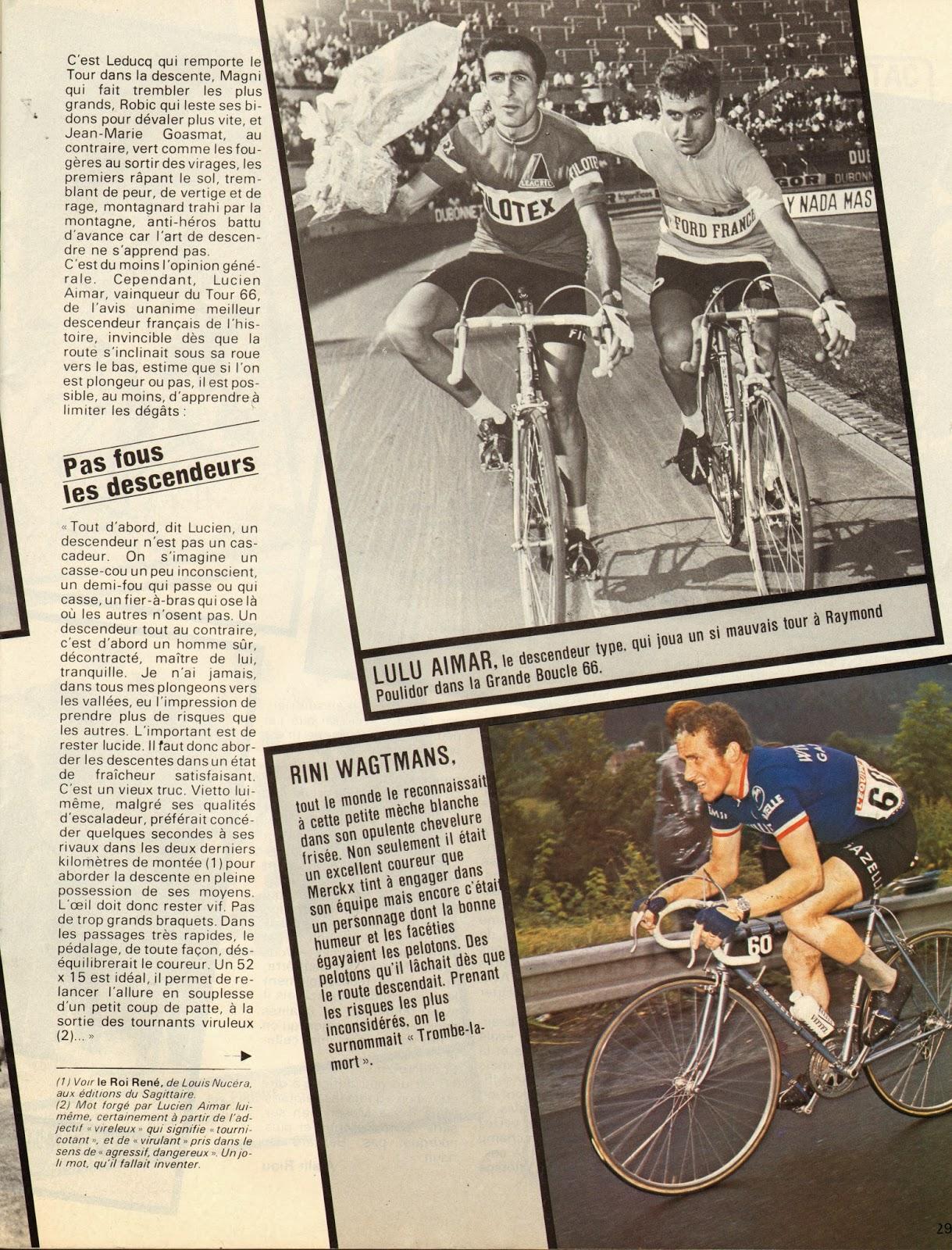 Cycling passions 67th tour de france 1980 for Miroir du cyclisme