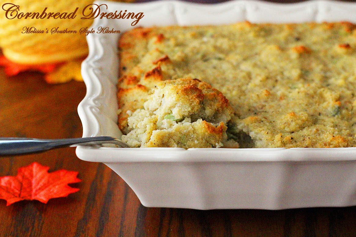 Melissa's Southern Style Kitchen: Today on Parade: Cornbread Dressing
