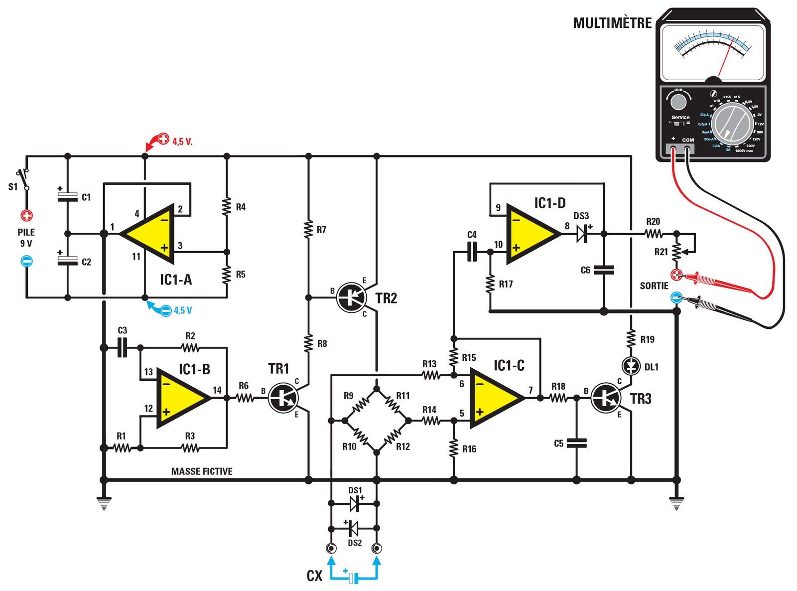 Un resm tre ou comment mesurer la r sistance equivalente for Comment verifier un condensateur