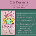 Willamina with her wand, a whimsical fairy digital stamps collection
