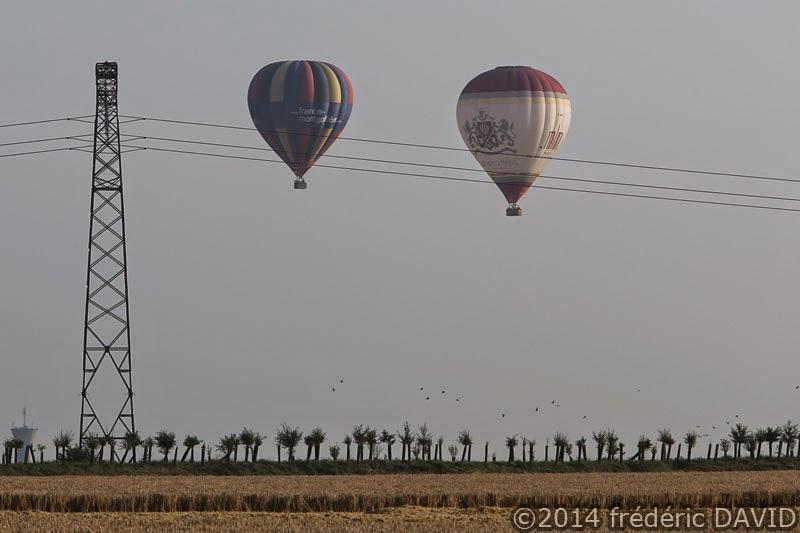 ligne électrique ballon montgolfière aérien Seine-et-Marne