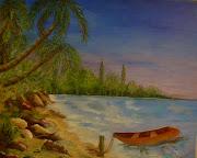 Marta AndradaPlaya del caribe (Oleo sobre tela) (marta andrada playa del caribe)