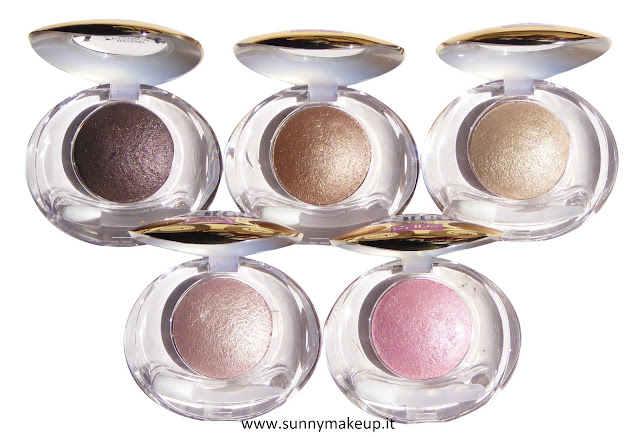 Pupa - Soft & Wild. Collezione autunnale 2015. Soft & Wild Vamp! Wet & Dry Eyeshadow. Da sinistra verso destra, le colorazioni: 001 Golden Mauve, 002 Warm Brown, 003 Chic Gold, 004 Golden Rose, 005 Glam Pink.