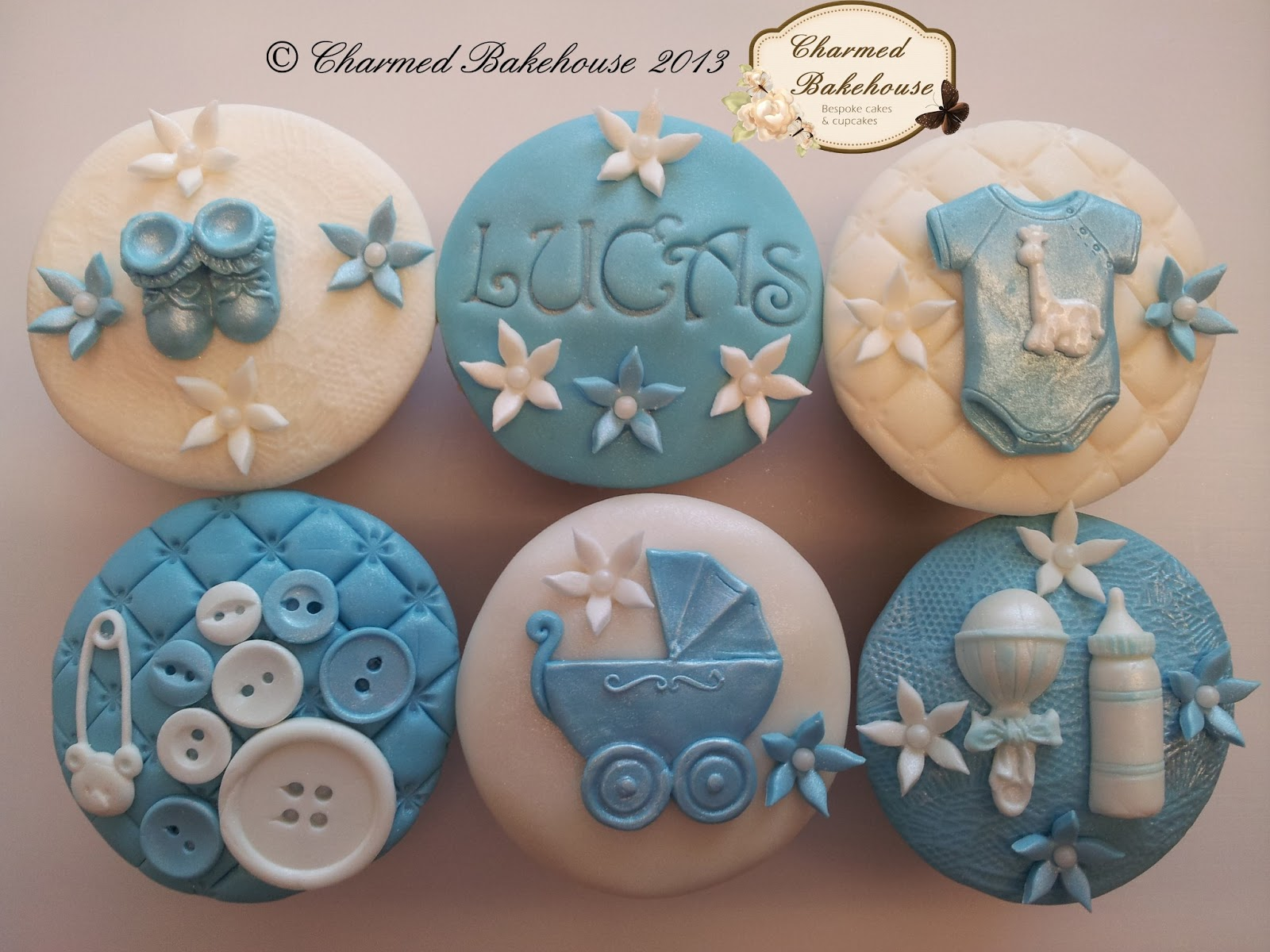 new baby baby boy cupcakes gift box