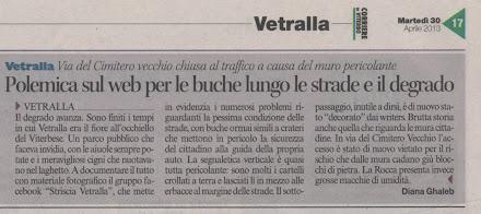 Corriere di Viterbo del 30.04.2013