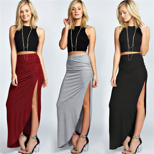 Maxi skirt outfit ideas for summer or spring 2017/2018