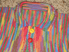 Sock Yarn Baby Sweater