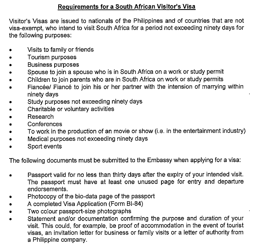 South African visa: Requirements to apply and exempt countries