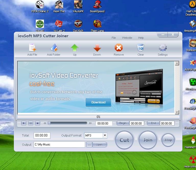 Phần Mềm Cắt, Ghép Nhạc MP3 - MP3 Cutter Joiner v2.20.
