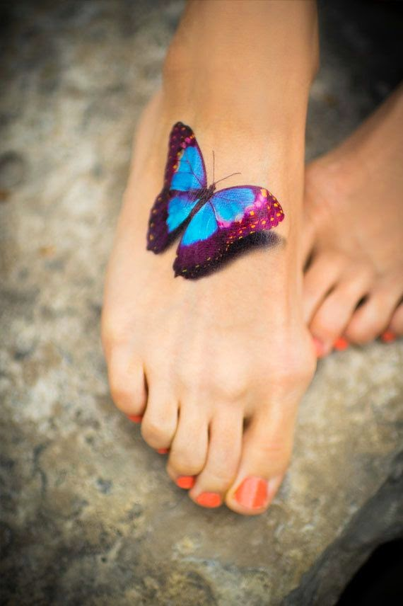 Realistic Temporary Butterfly Tattoo, Realistic Tattoo Style