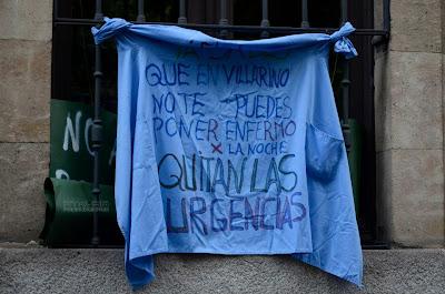 cartel protesta pidiendo sanidad 24 horas
