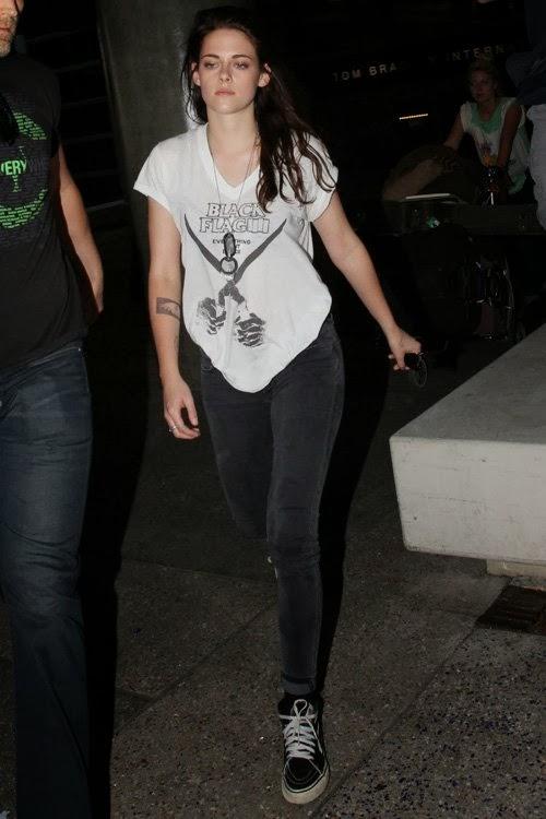 Kristen Stewart At Lax With New Tattoojpg