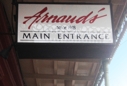 Arnaud's New Orleans Entrance Sign
