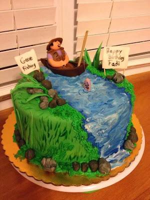 tarta pescando en rio