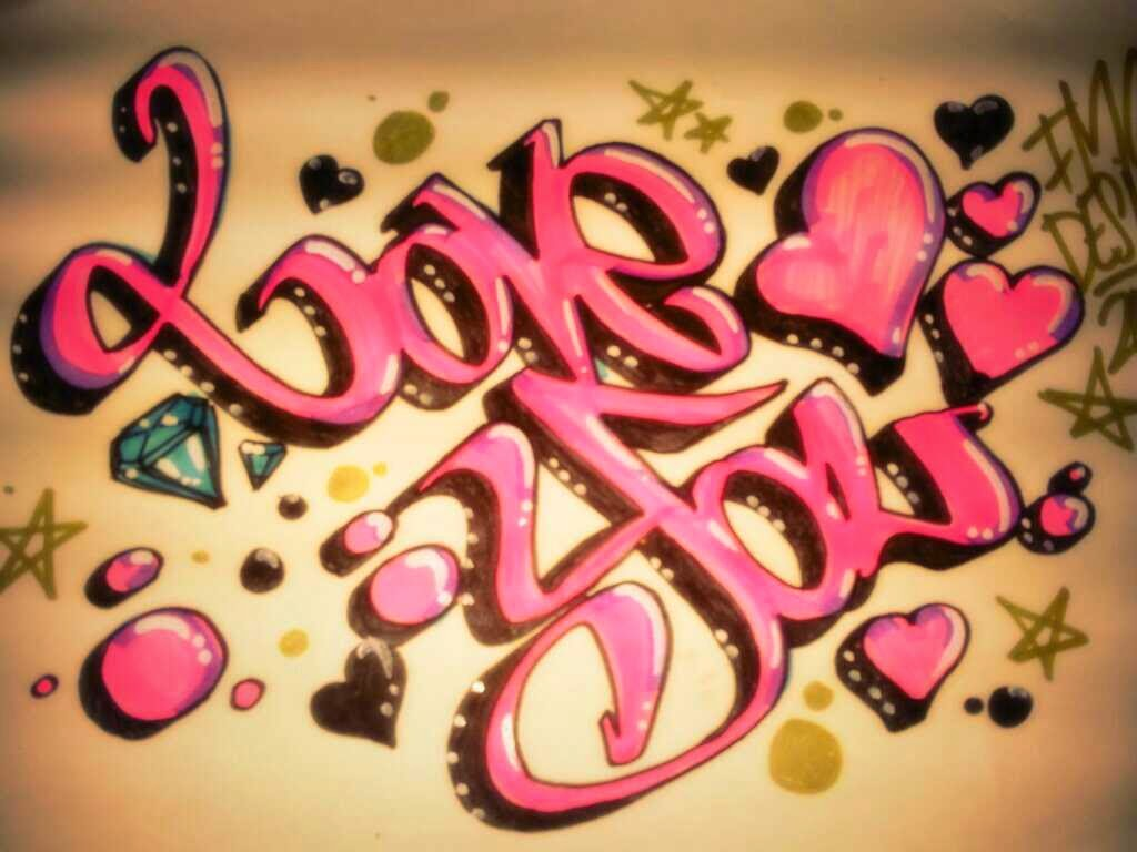 How To Draw I Love You In Graffiti Letters