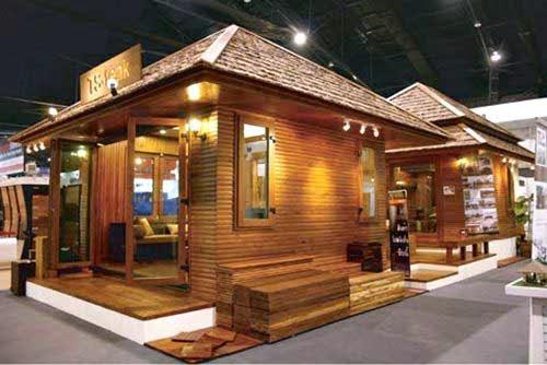 7 rumah kayu sederhana desain unik dan murah