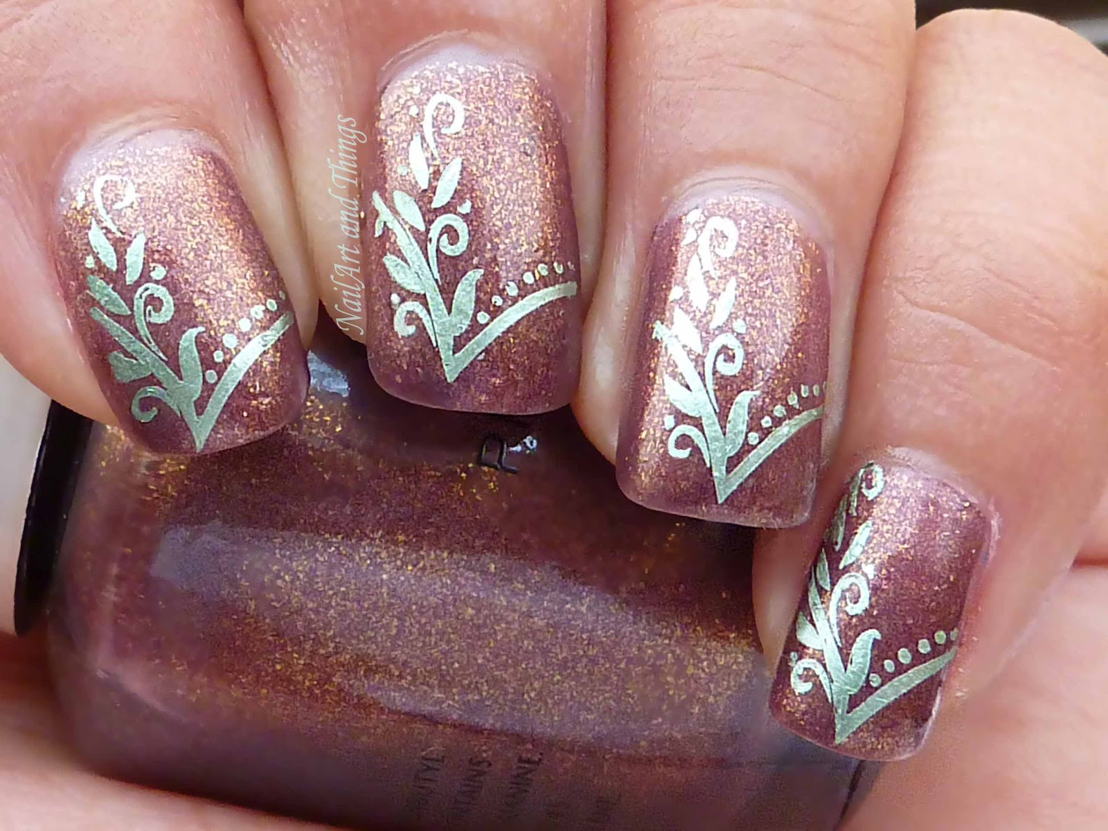 Indian wedding nail art