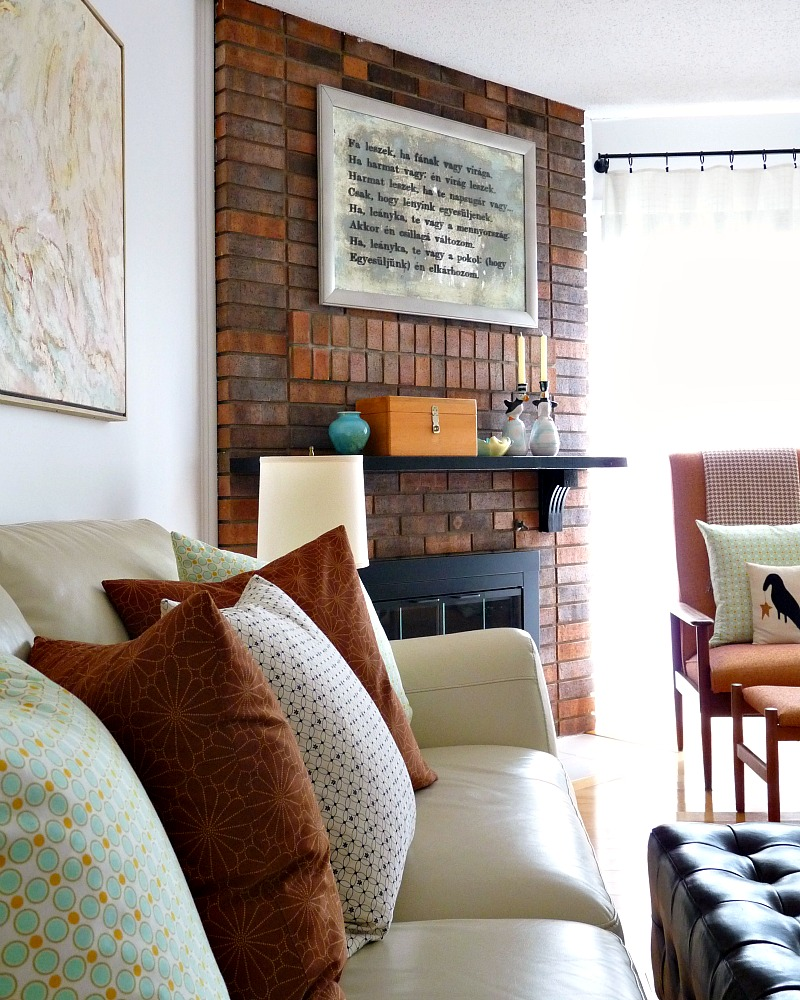 How to decorate around a brick fireplace