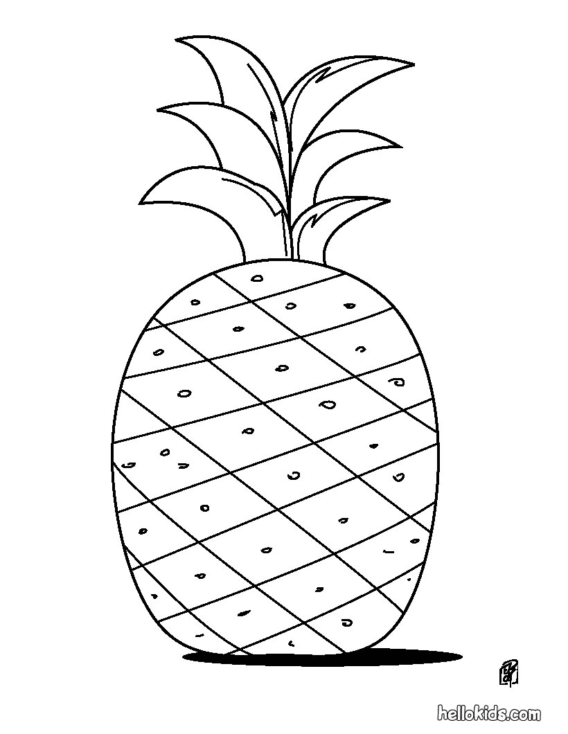 here is a coloring page pineapple you can print these images to be colored pineapple do not worry all you can get it for free