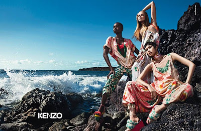 ad Ataui Deng pour Kenzo par Mario Sorrenti