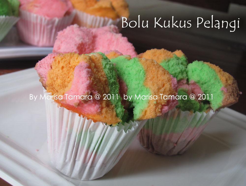 Welcome To Marisa's Kitchen: Bolu Kukus Pelangi