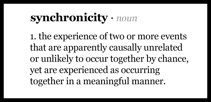 how to use synchronicity in a sentence