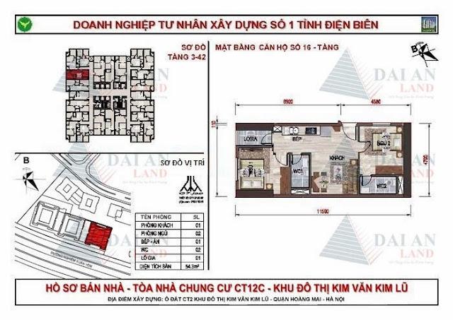 Căn 16 - Chung Cư Kim Văn Kim Lũ CT12C