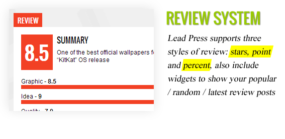 Review System - Maginess – Flexible Magazine WordPress Theme