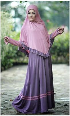 Model Busana Muslim Gamis Bergo Syar'i
