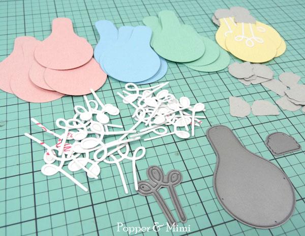 Paper Cafe Light Garland die cuts | popperandmimi.com