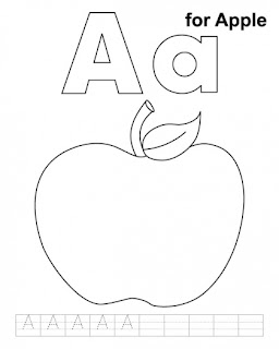 Letter Aa printable coloring pages | Kids coloring pages