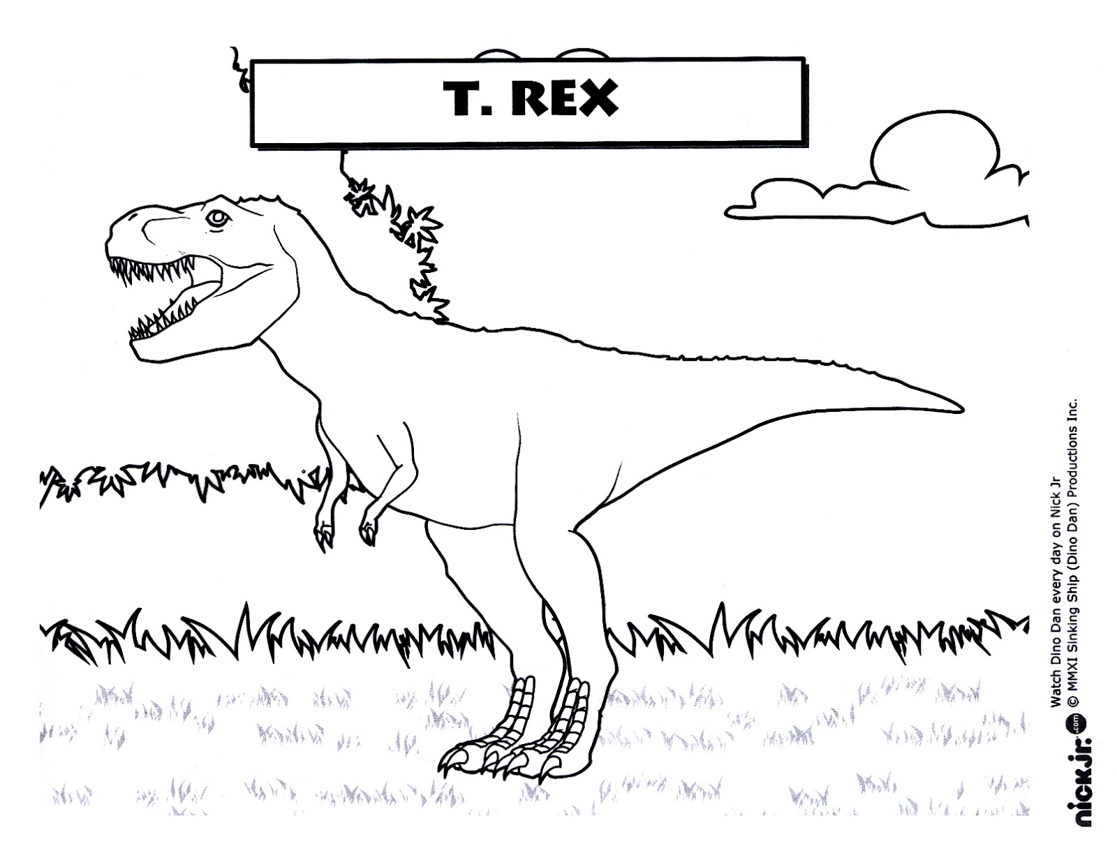Free Coloring Pages Of Dinosaurio T Rex