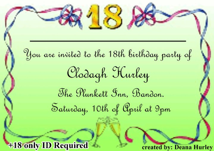 Pictures Of 18th Birthday Quotes For Invitations Www Kidskunst Info