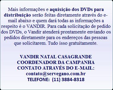 DVD EM FAVOR DOS ANIMAIS: