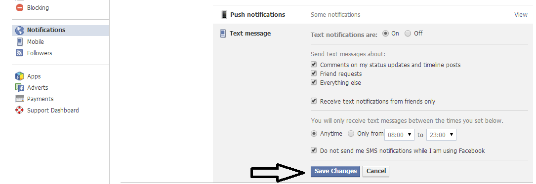 how to delete notifications on facebook mobile