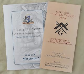 Tríptico masonería, Qué es la Masonería, San Antonio 814, barracas la boca, pompeya zona sur