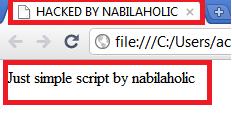 Cara Mudah Membuat Script Deface - ( Script HTML  )