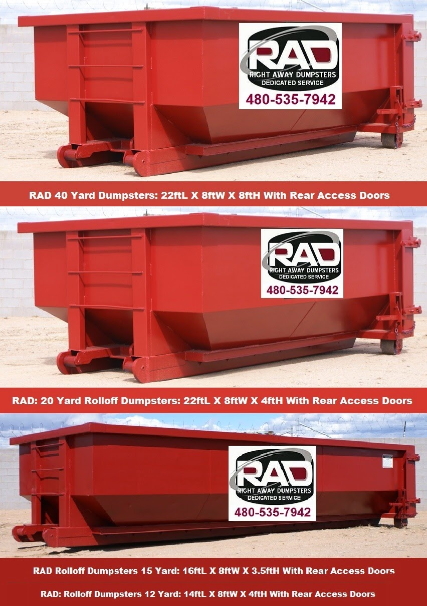 Tucson Rolloff Dumpster Rental Sizes