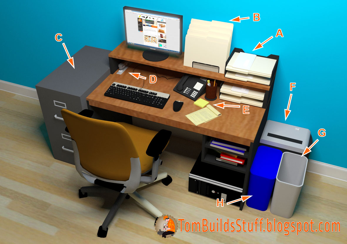 Office organization what you need to know - Organize computer desk ...